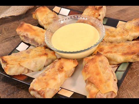 Corned Beef Egg Rolls with Beer Cheese Sauce | RadaCutlery.com
