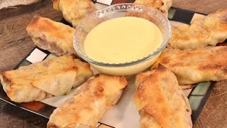 Corned Beef Egg Rolls with Beer Cheese Sauce