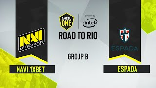 CS:GO -  NAVI.1XBET vs. ESPADA [Nuke] Map 2 - ESL One: Road to Rio - Group B - CIS