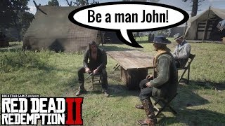 Hosea advises John to choose for Love   Red Dead Redemption 2