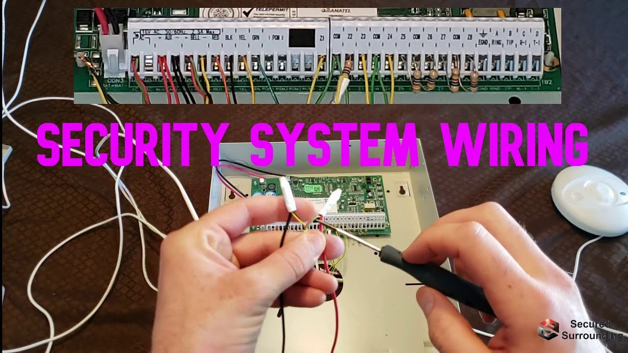 DSC Security alarm system wiring walk-through and explanation of panel and  devices - YouTubeYouTube