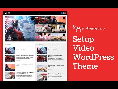 Video WordPress Theme Setup Tutorial