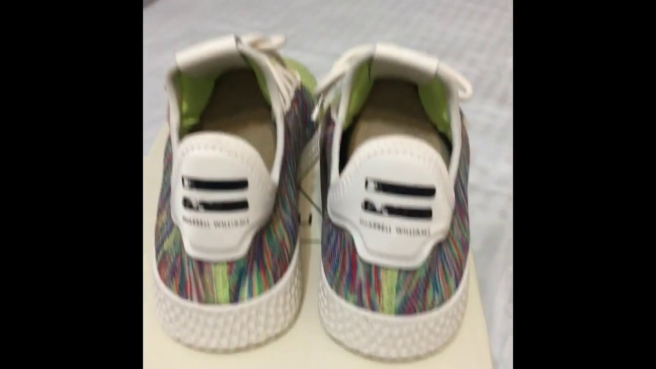 official images detailed images amazon ADIDAS PHARRELL WILLIAMS TENNIS HU PK MULTICOLOR VERSION 2.0 ...