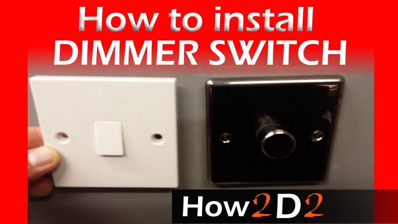 how to wire dimmer switch replacing one way switch with dimmer one [ 1280 x 720 Pixel ]