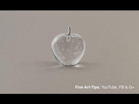 How to Draw a Crystal Apple - Transparent