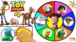 TOY STORY 4 Spinning Wheel Game w/ Surprise Movie Toys NEW TOY STORY TOYS