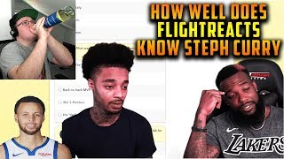 Reacting To FlightReacts Steph Curry Bandwagon Quiz W/ CashNasty