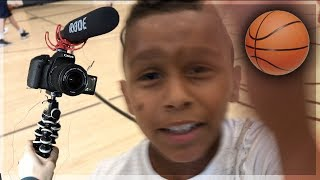 CRAZY TRASH-TALKING 9 YEAR OLD TRIES TO STEAL MY $1200 CAMERA AFTER 1v1 LOSS