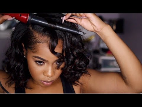 grwm-|-how-to:-curly-bob-on-natural-hair-simple-red-lip-makeup-look!-|-dana-alexia