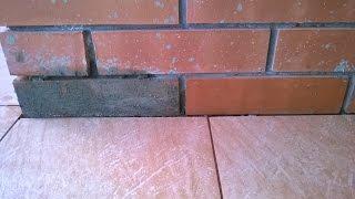 Очищаем кирпич от бетона!!! Шайтер Андрей!(При проведении работ по укладке керамогранита на балконах, нам необходимо организовать деформационный..., 2015-06-18T16:01:31.000Z)