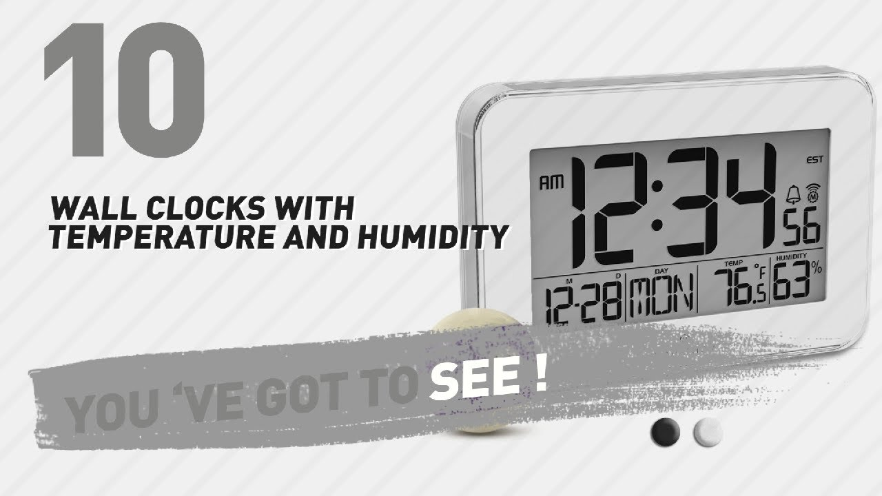 Wall clocks with temperature and humidity new popular 2017 wall clocks with temperature and humidity new popular 2017 amipublicfo Choice Image