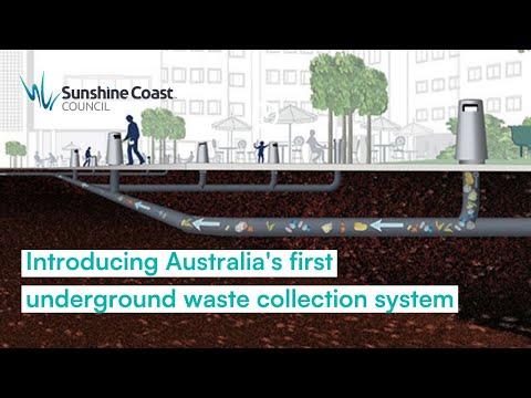 Australia's first underground waste collection system