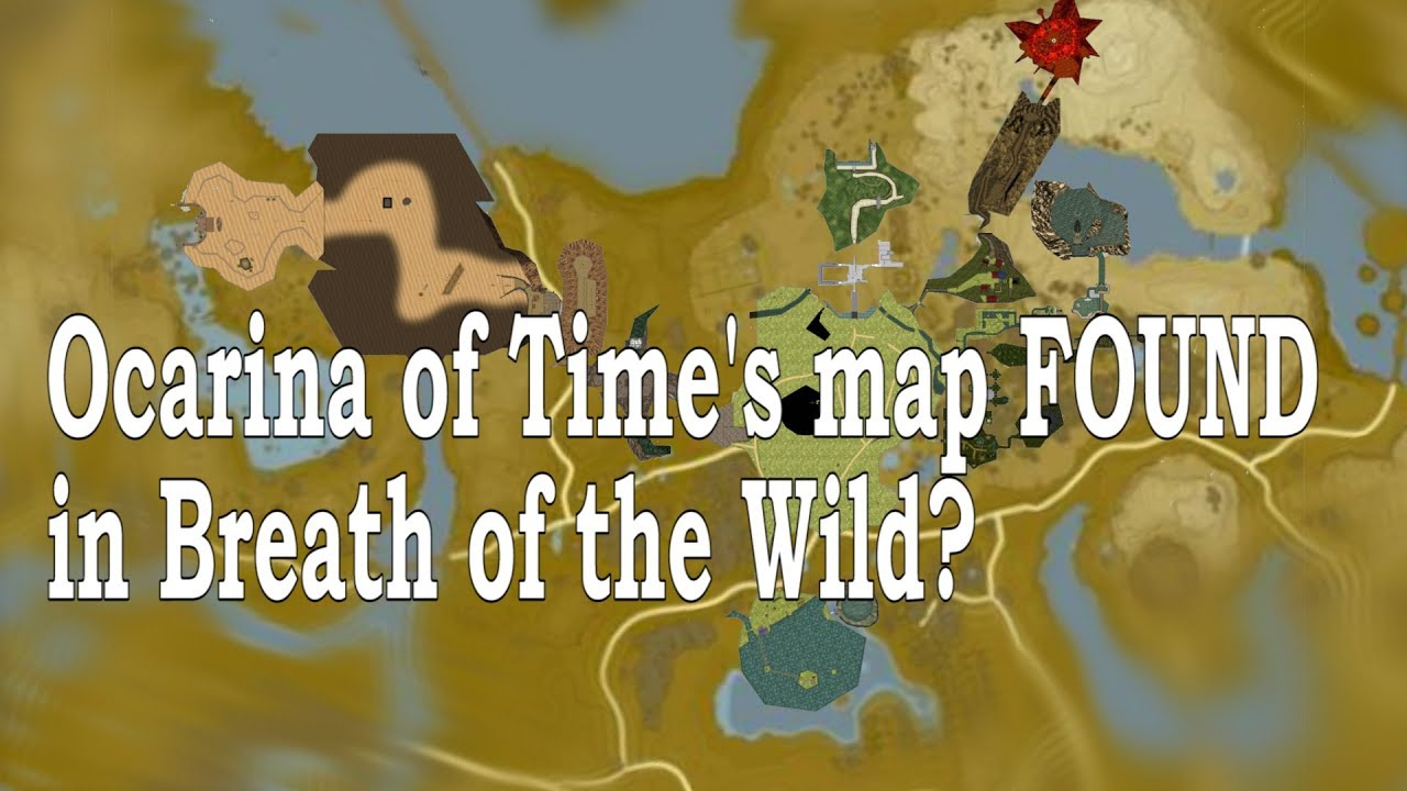 Ocarina Of Time Map Map Sync   OoT and BotW Map Analysis   YouTube
