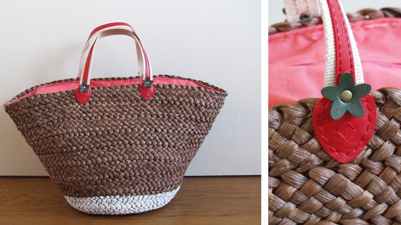Diy cesto de playa youtube - Como adornar cestas de mimbre ...