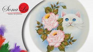 Gatinho com Rosas em Emborrachado – Parte2