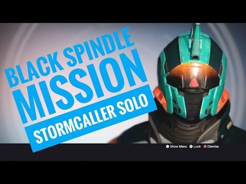 Back on Destiny 1: BLACK SPINDLE MISSION - Stormcaller Solo