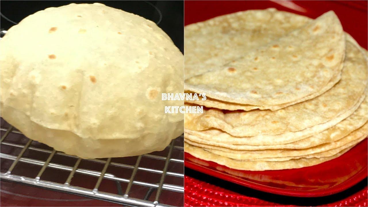 Homemade Soft Fluffy Roti  Chapati  Phulka Video Recipe
