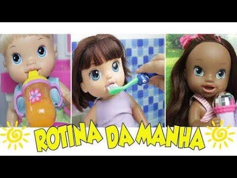 Rotina da Manhã | MALU, DUDA E IVE - Lilly Doll