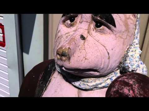 Weird Old Japanese Tanuki Statue