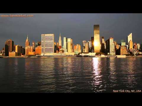 Midtown Manhattan seen from the East River 2 Collage Video