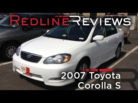 2007 Toyota Corolla S Review Walkaround Start Up Test