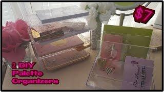 Dollar tree diy makeup organizer storage do it yourself two 2 diy acrylic like palette organizers solutioingenieria Choice Image