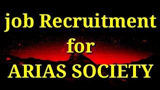 Job recruitment for ARIAS society