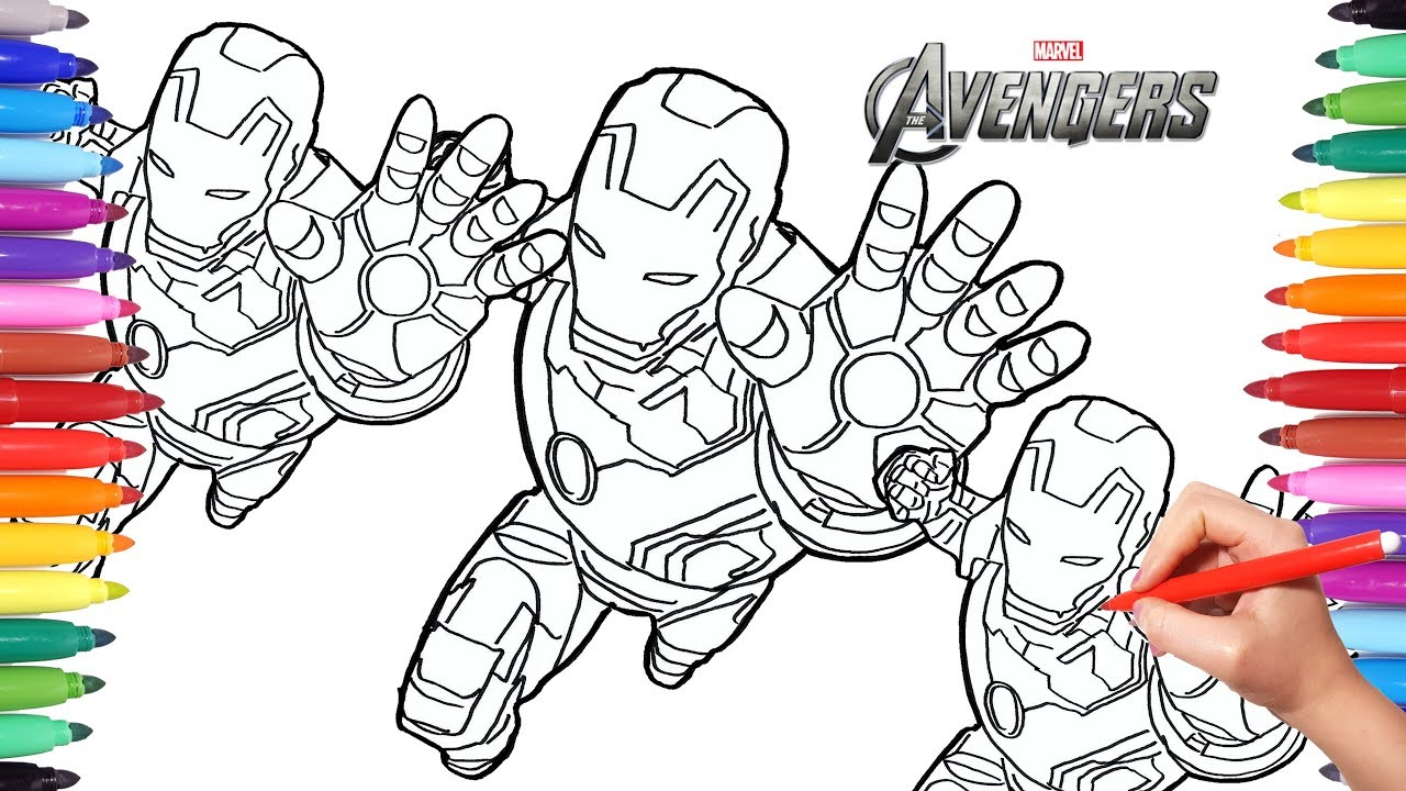 How to Draw Iron Man | Avengers Coloring Pages | Drawing ...