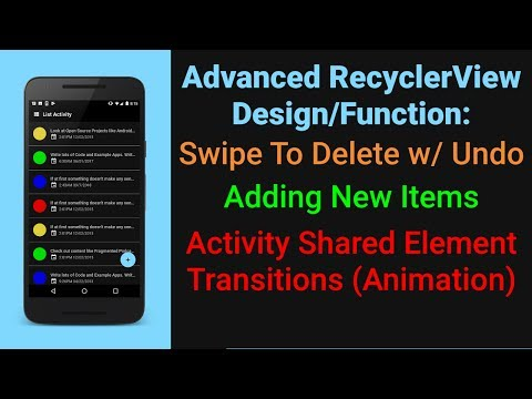 Let's Build a RecyclerView App Part 3 | Add, Swipe Delete, Undo, Dividers, Shared Element Transition