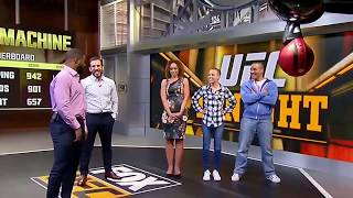 MMA Fighters hitting the punching machine: Mcgregor, Woodley, Ortega and more
