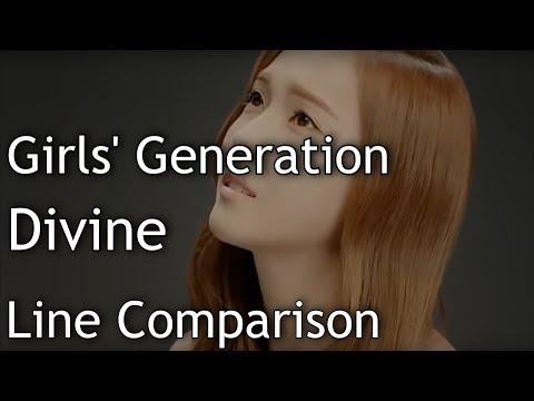 Girls' Generation(SNSD) - Divine (without Jessica)[Line Comparison]