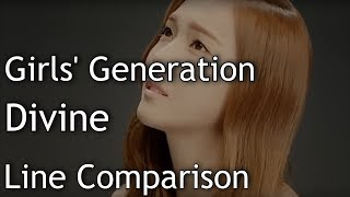 Gambar cover Girls' Generation(SNSD) - Divine (without Jessica)[Line Comparison]