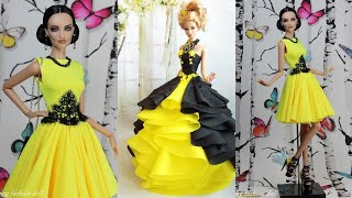 Gorgeous DIY Barbie Doll Dresses ♥️ How to make barbie clothes ~ DIY Barbie Doll Dresses