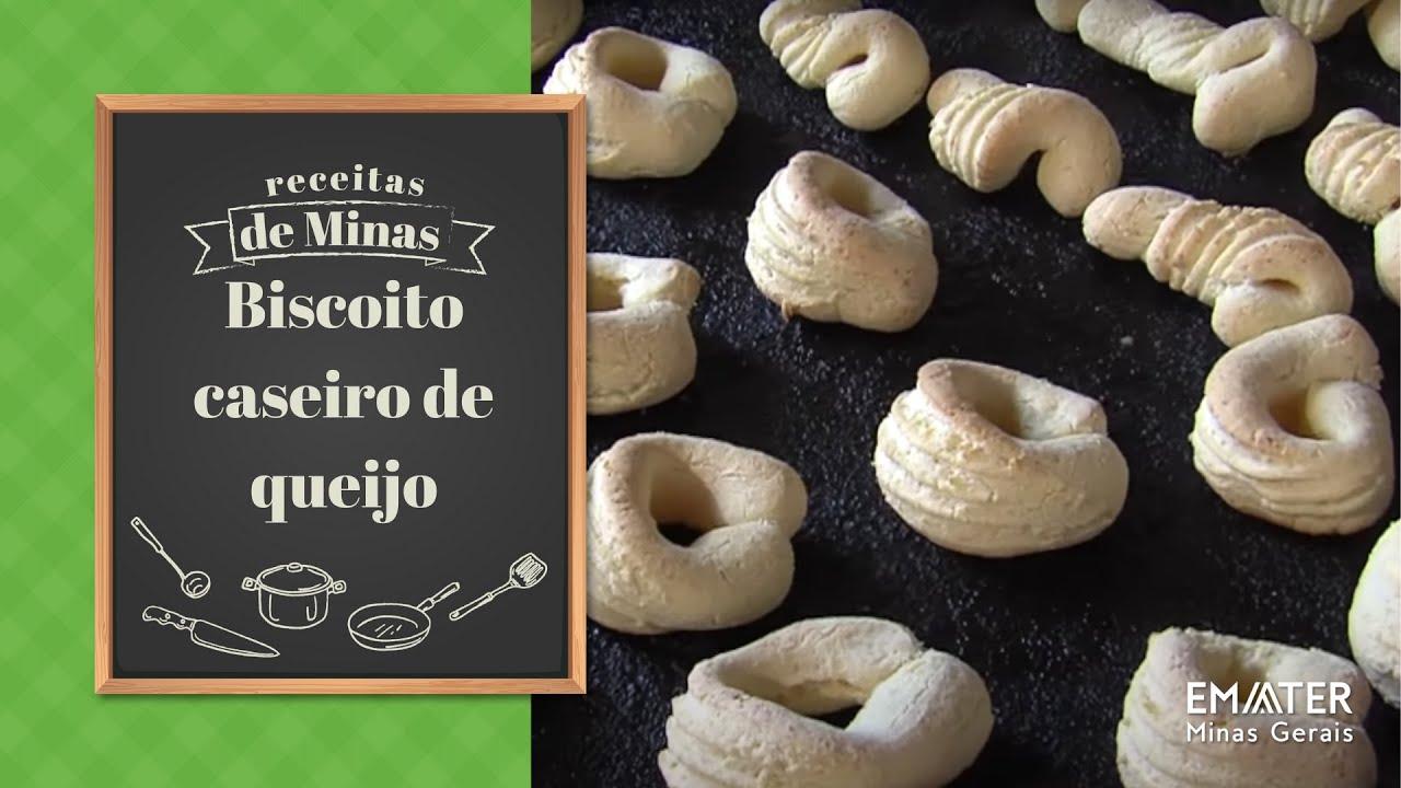 Populares Receita: Biscoito caseiro de queijo (03/06/17) - YouTube BL84