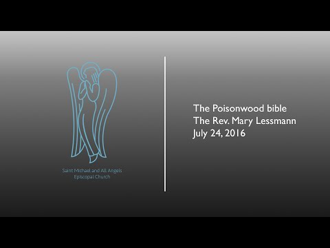 The Poisonwood Bible | Rev. Mary Lessmann