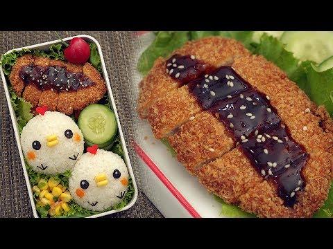 Japanese Tonkatsu Lunch Box [Cute Chicken Bento] - とんかつ弁当 Ep1