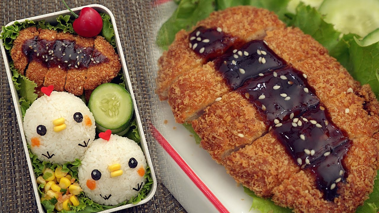 Japanese Tonkatsu Lunch Box [Cute Chicken Bento] – とんかつ弁当 Ep1