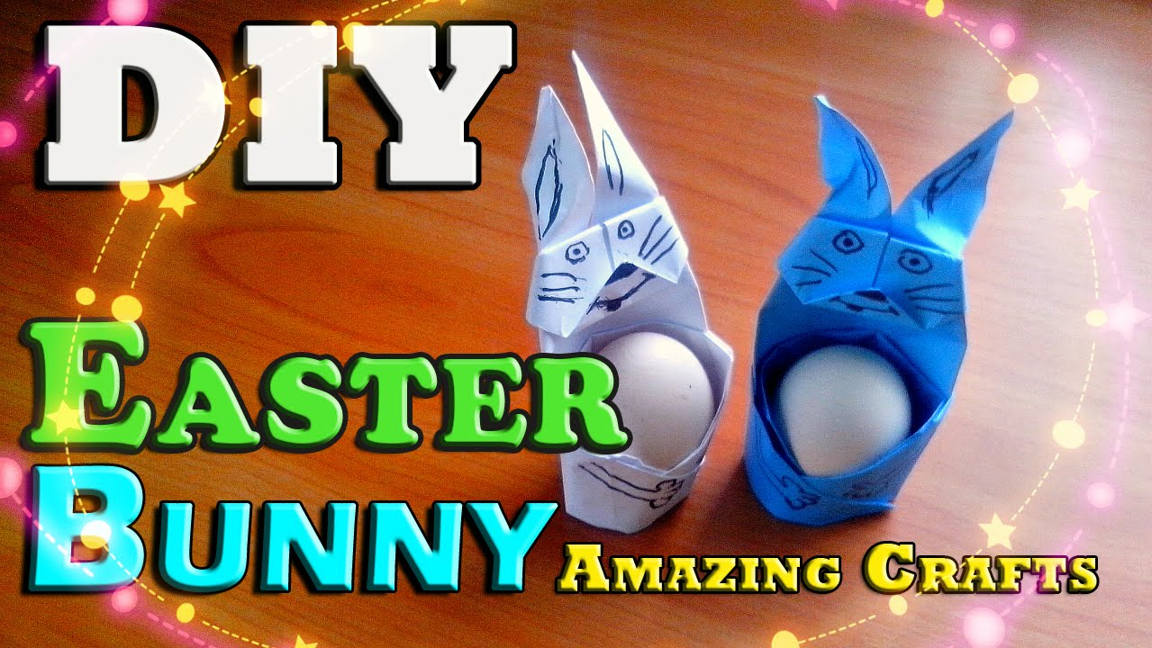 Diy Easy Easter Bunny From Paper Origami Bunny Tutorial For Children How  To Make Rabbit Box  Youtube