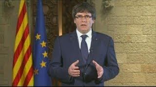 "Puigdemont acusa a Rajoy de querer ""liquidar"" las instituciones de Cataluña"