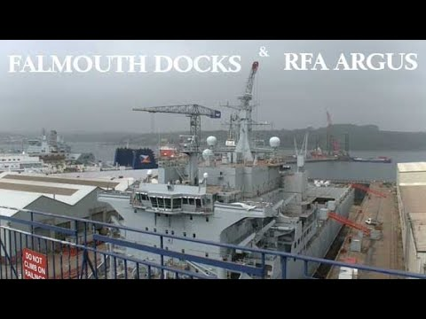Falmouth Docks and RFA Argus