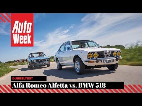 Alfa Romeo Alfetta (1978) vs. BMW 518 (1976) - AutoWeek Classics Dubbeltest