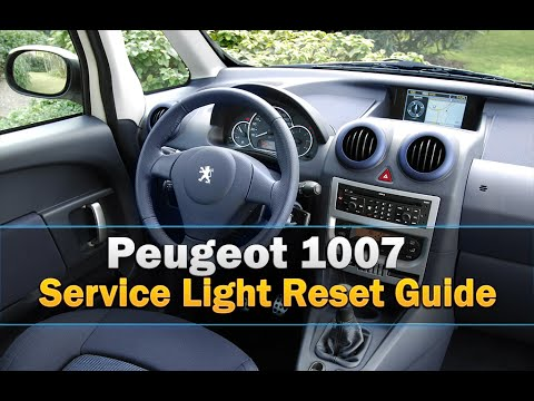 peugeot 1007 service light reset youtube rh youtube com peugeot 1007 service manual pdf Peugeot 3007