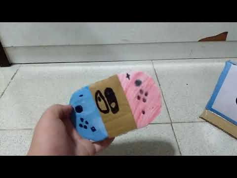 Cardboard Nintendo switch homemade