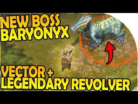 NEW BARYONYX BOSS BATTLE HUNT + LEGENDARY REVOLVER - Last Day on Earth Jurassic Survival Gameplay