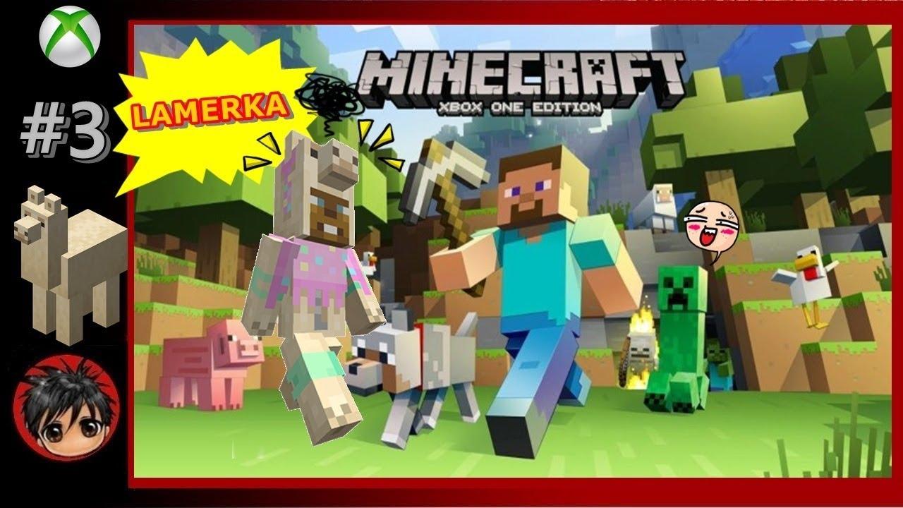 🐖⬜🐤🌳🌻🔳🍎 Minecraft Xbox One Edition 🔼 PL #3 - Rozwijam się powoli z farmą .
