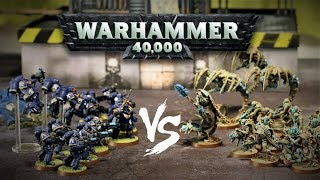 Ultramarines vs Sandstone Necrons: 500 point Warhammer 40,000 Battle Report