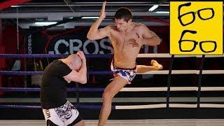 Как бить локтями в муай тай? Удары локтями в тайском боксе и 'локоть Супермена' от Виталия Дунца