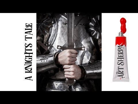 How to paint with Acrylic A knights Amour step by step