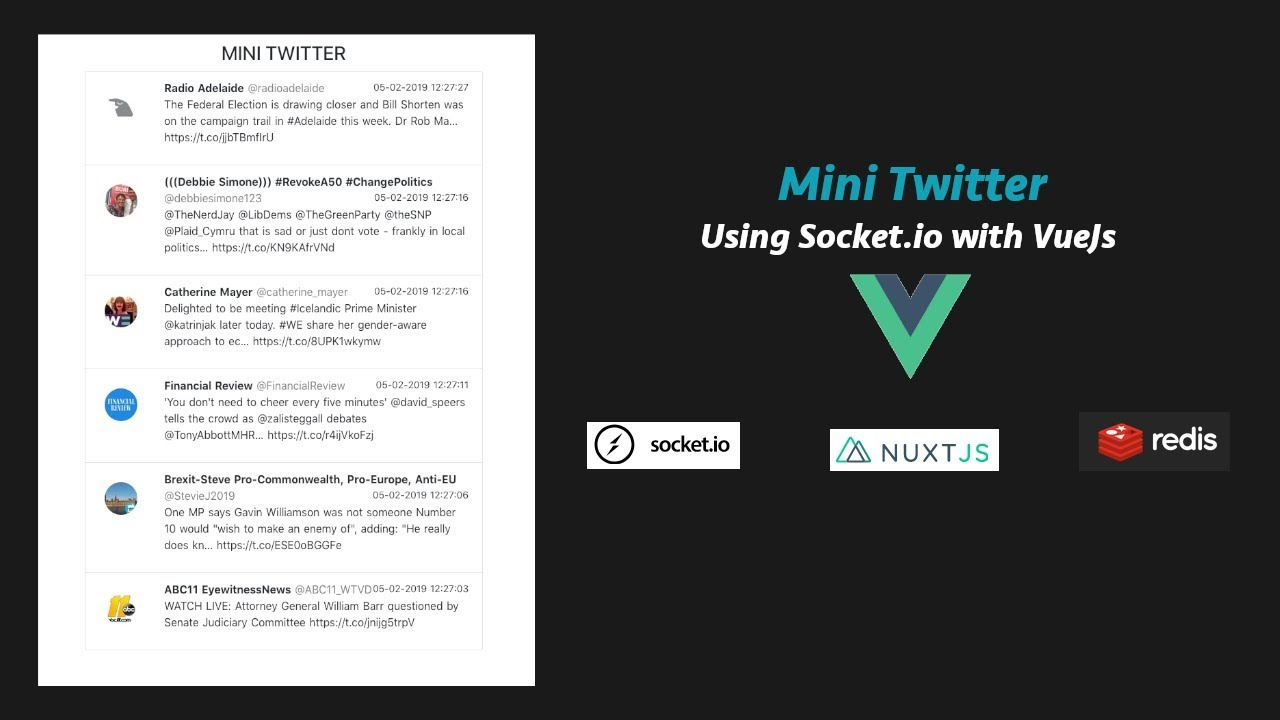 Introduction to Socket io with Vue Js - Mini Twitter