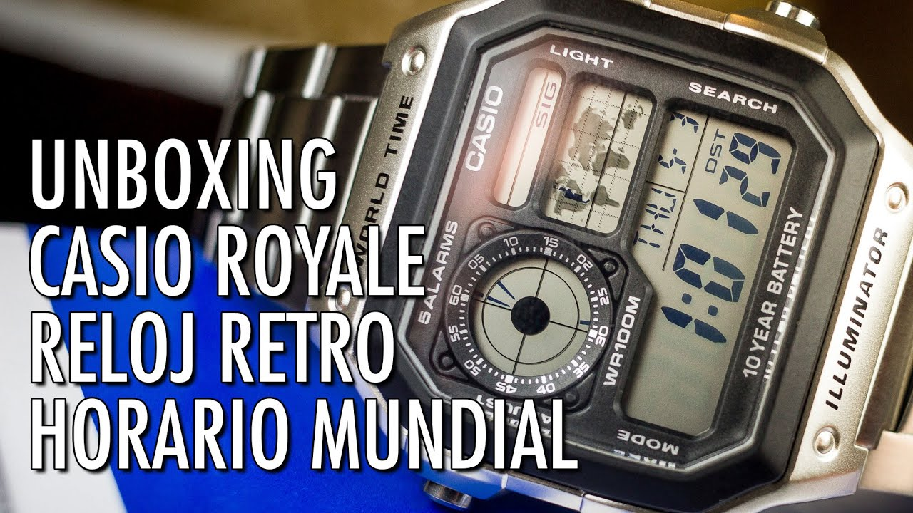Unboxing Casio AE1200WHD `Casio Royale` Reloj Digital de